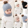 Fur Ball Knitted Warm Newborn Beanie
