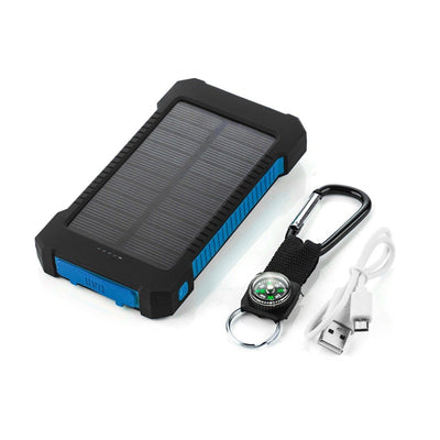 External Battery Charger Phone Solar Powerbank with LED Light