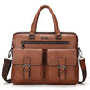 Men Split Leather Handbag
