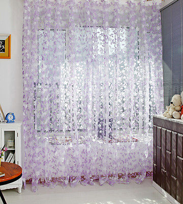 Scarf Sheer Voile Door Window Curtains