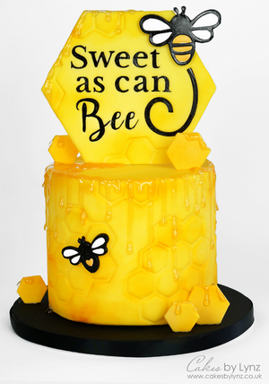 Sweet As Can Bee Bumblebee Cake Tutorial