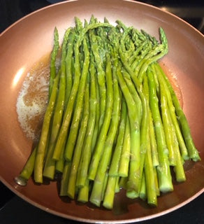 Fresh Asparagus with Honey Mustard Butter Sauce