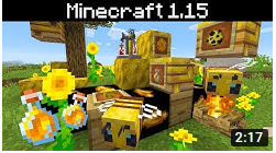 Minecraft Has Bees, Honey, Beehives!