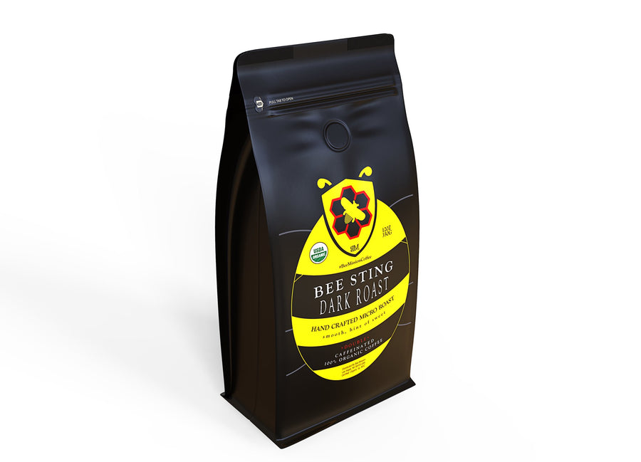Bee Mission Premium Bee Sting Coffee - Robust Double Caffeinated Blend - Ground