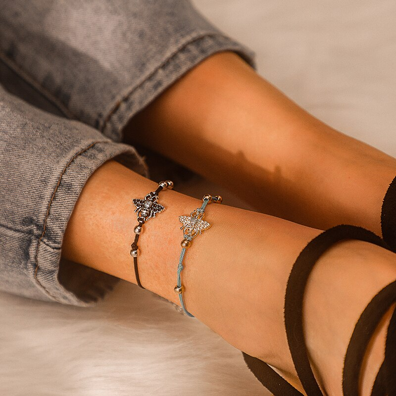 Bee Rope Anklet