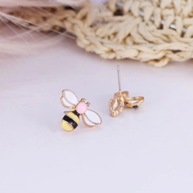 Enamel Bee Earrings