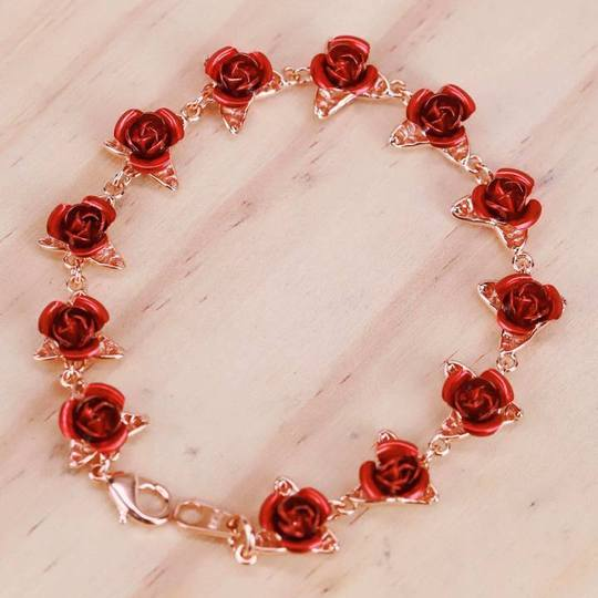 """12 Reasons"" Rose Bracelet"