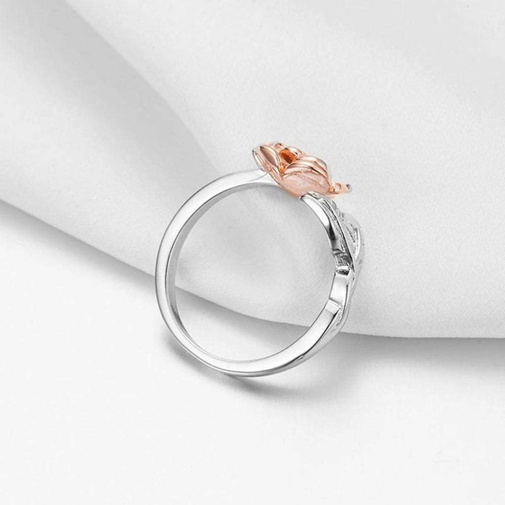 Free Adjustable Silver Rose Ring (Free-Bee Friday)