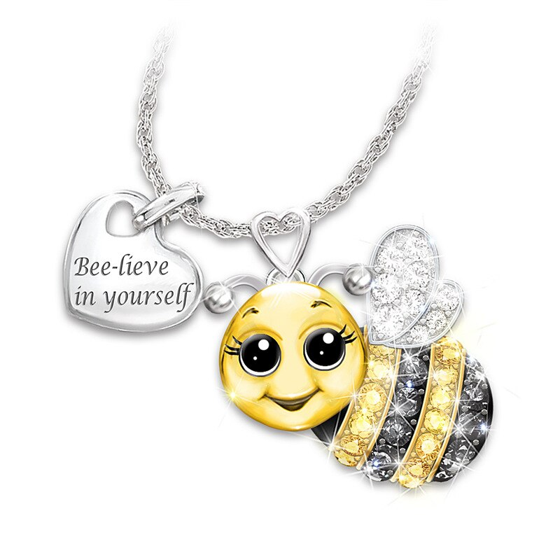 Bee-lieve In Yourself Pendant & Chain
