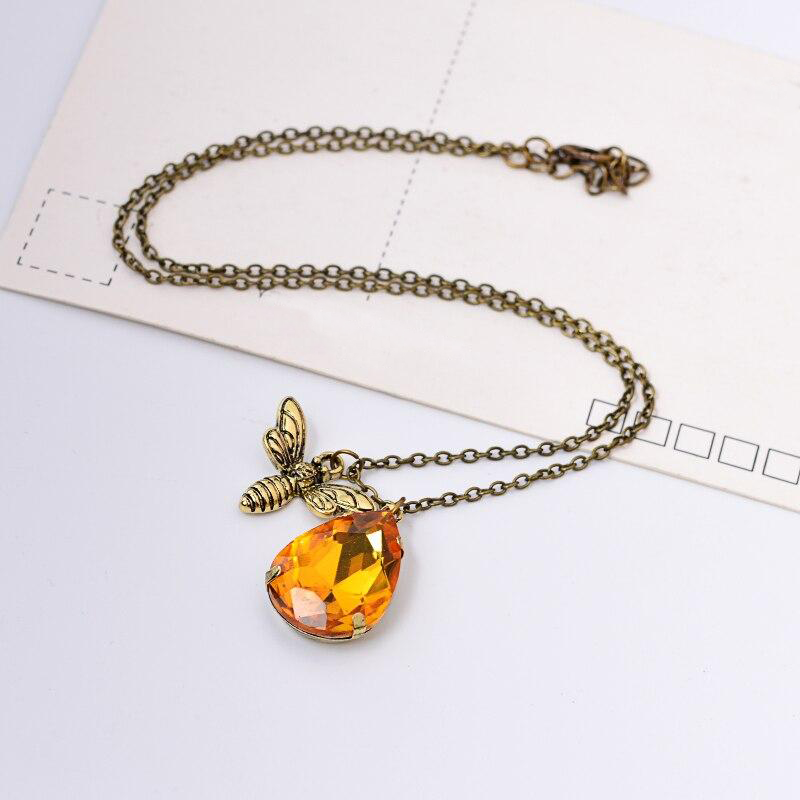Crystal Bee Necklace