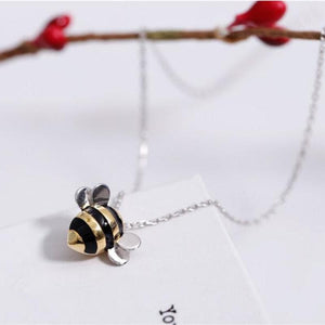 "Limited Edition ""Bee Inspired"" Sterling Silver Bumblebee Necklace"