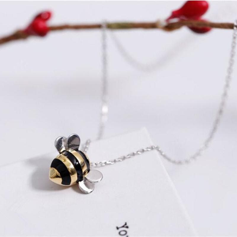 "Free Limited Edition ""Bee Inspired"" Silver & Gold Bumblebee Necklace (Free-Bee Friday)"