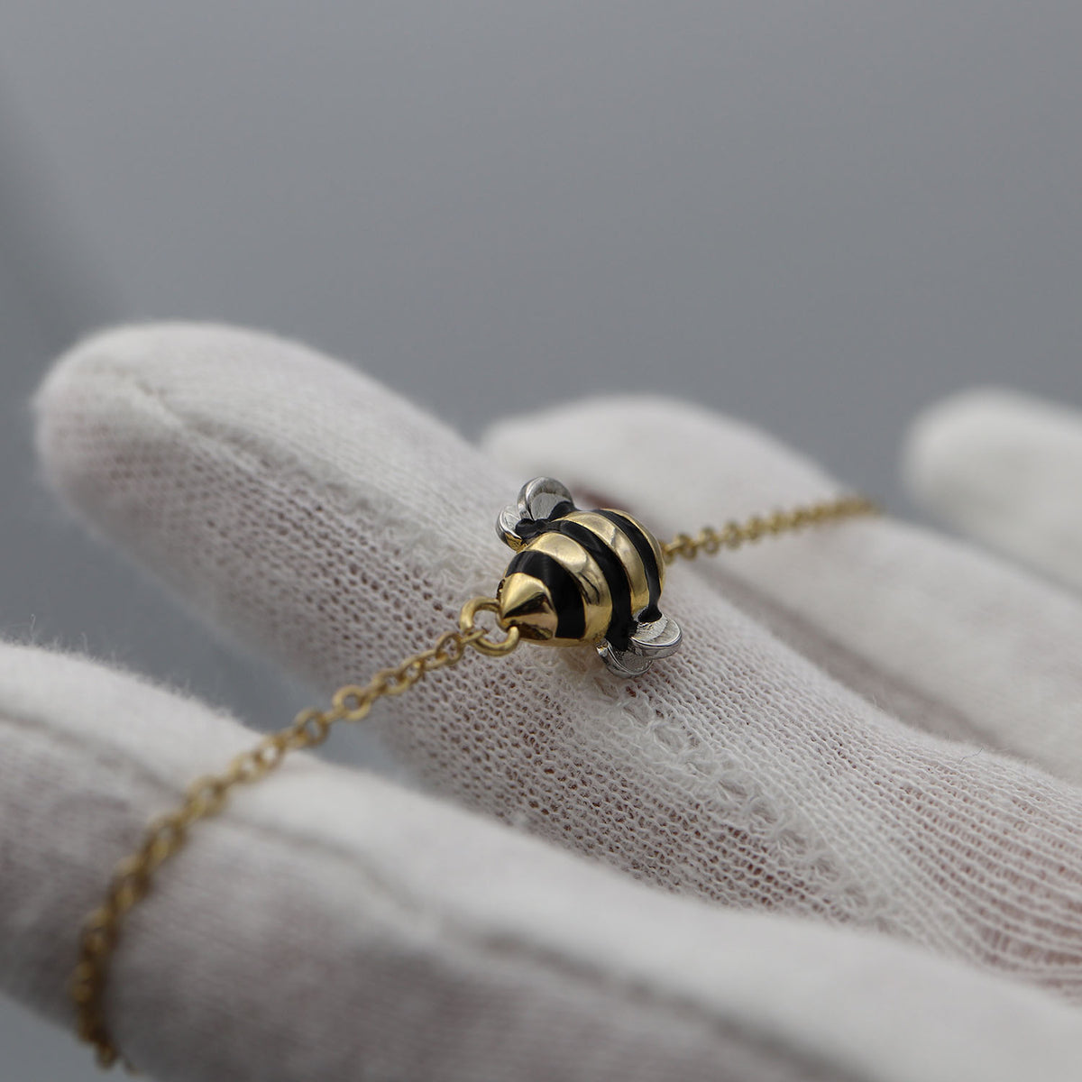 "Free Limited Edition ""Bee Inspired"" Silver & Gold Bumblebee Bracelet (Free-Bee Friday)"