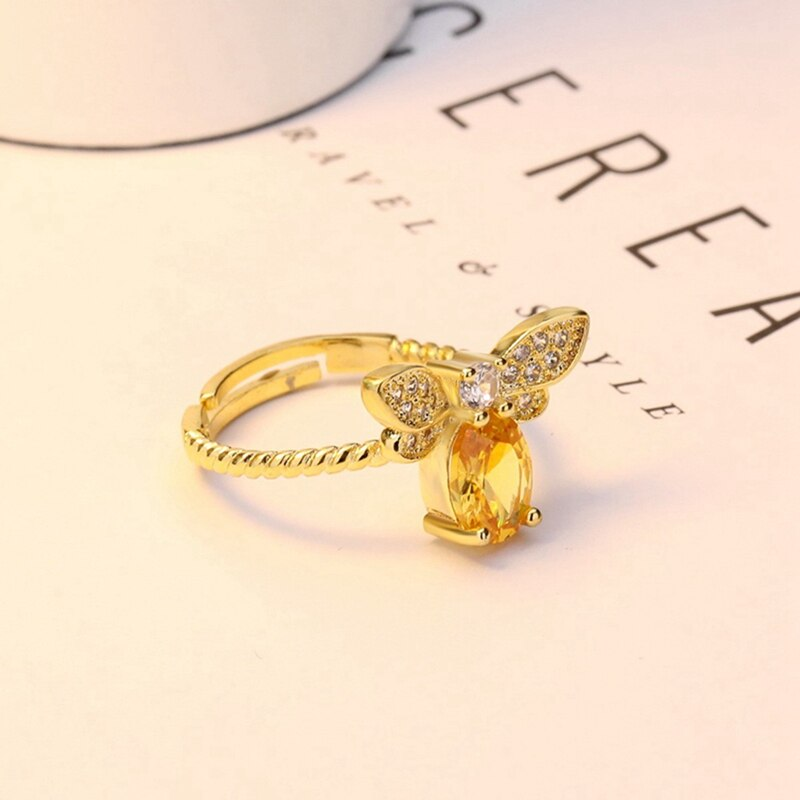 Crystal Bee Ring