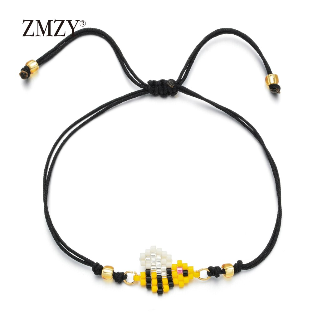 Enamel and Beaded Bee Bracelet