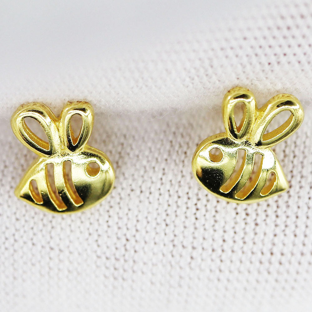 Free Bee Inspired Gold Baby Bee Earrings (Free-Bee Friday)