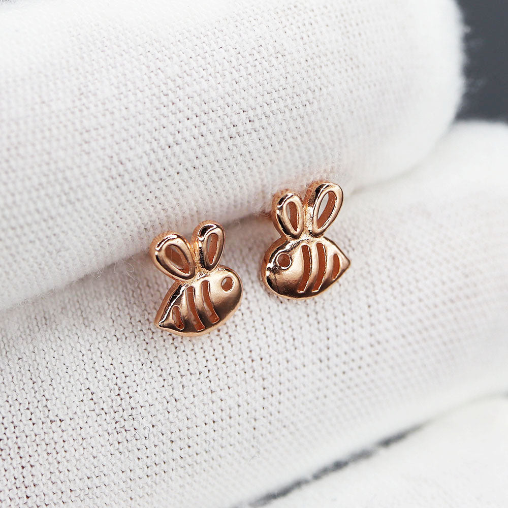 Free Bee Inspired Rose Gold Baby Bee Earrings (Free-Bee Friday)