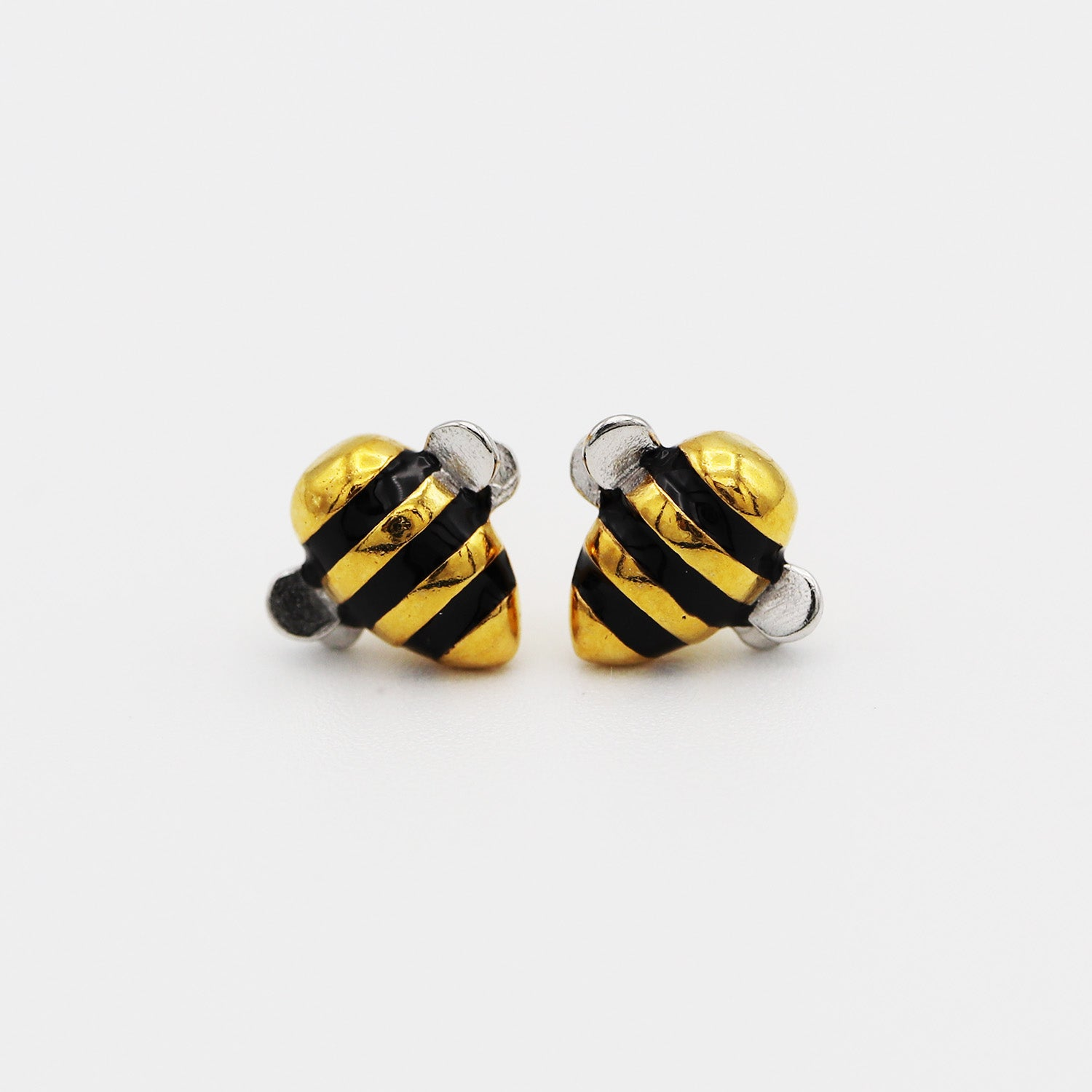 "Free Limited Edition ""Bee Inspired"" Silver & Gold Bumblebee Earrings (Free-Bee Friday)"