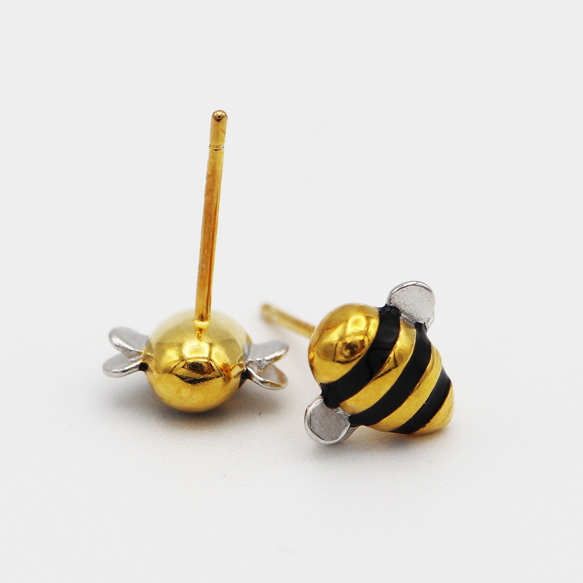 "Limited Edition ""Bee Inspired"" Silver & Gold Bumblebee Earrings"