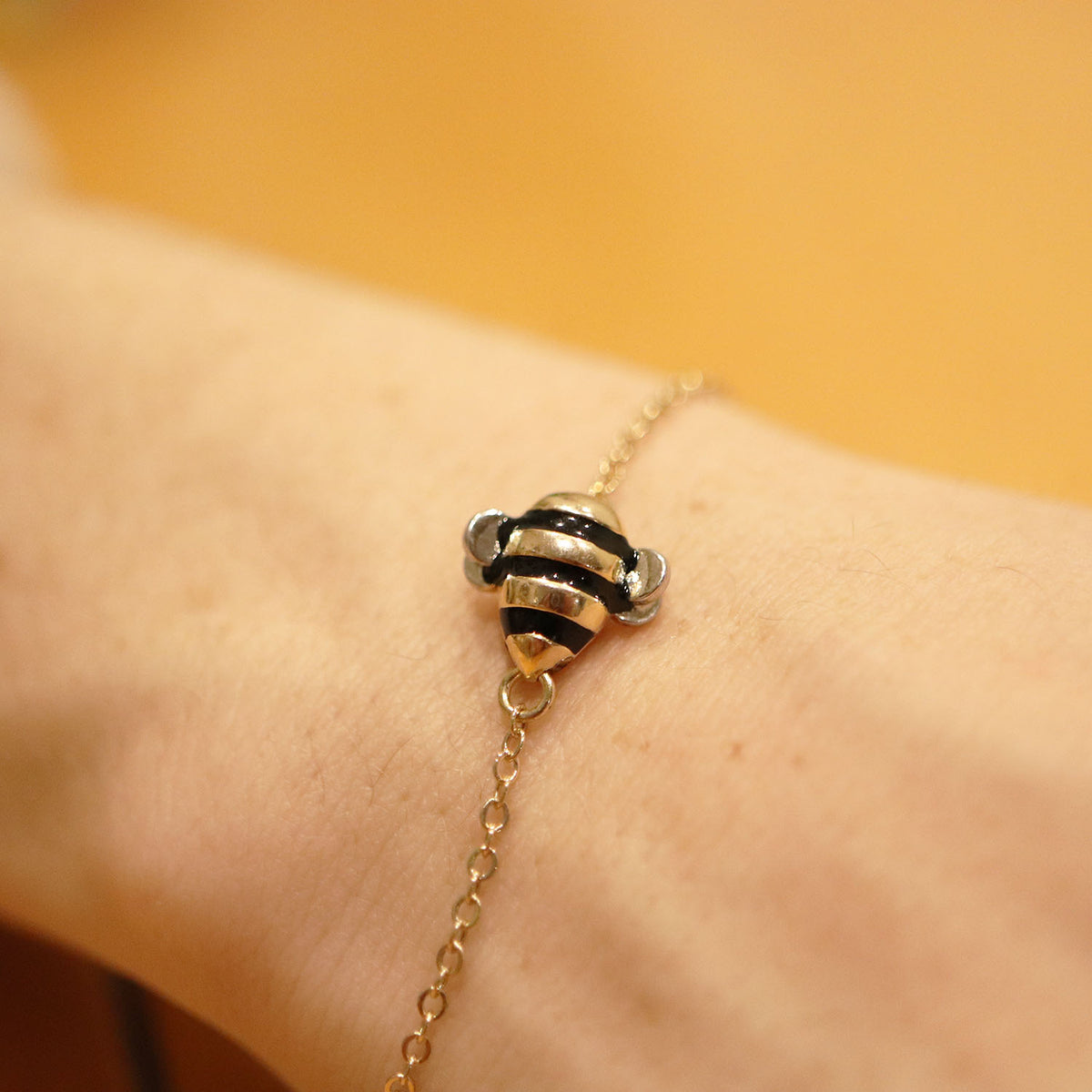 "Limited Edition ""Bee Inspired"" Silver & Gold Bumblebee Bracelet"