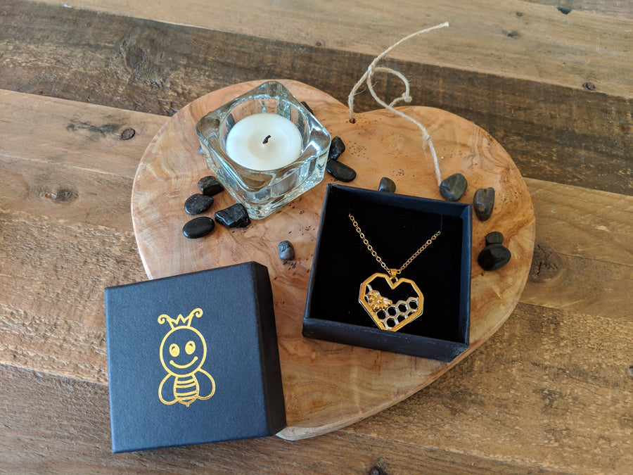 Limited Edition Honeycomb Heart Necklace (Bee Inspired)