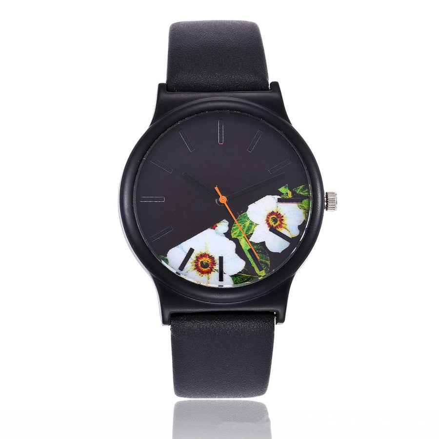 Black Floral Watch