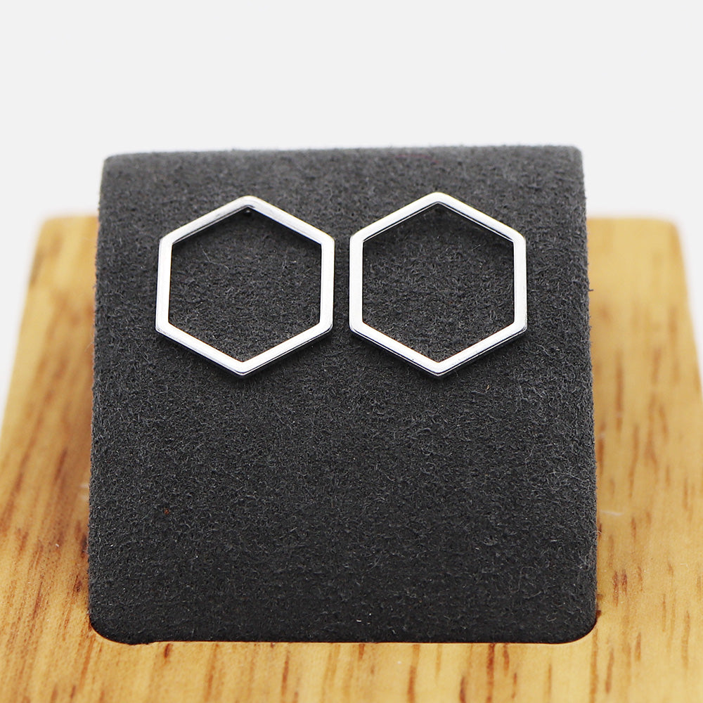 Minimalistic Honeycomb Earrings