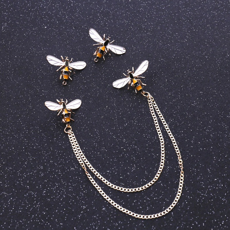 Collar Pin Bee Brooch
