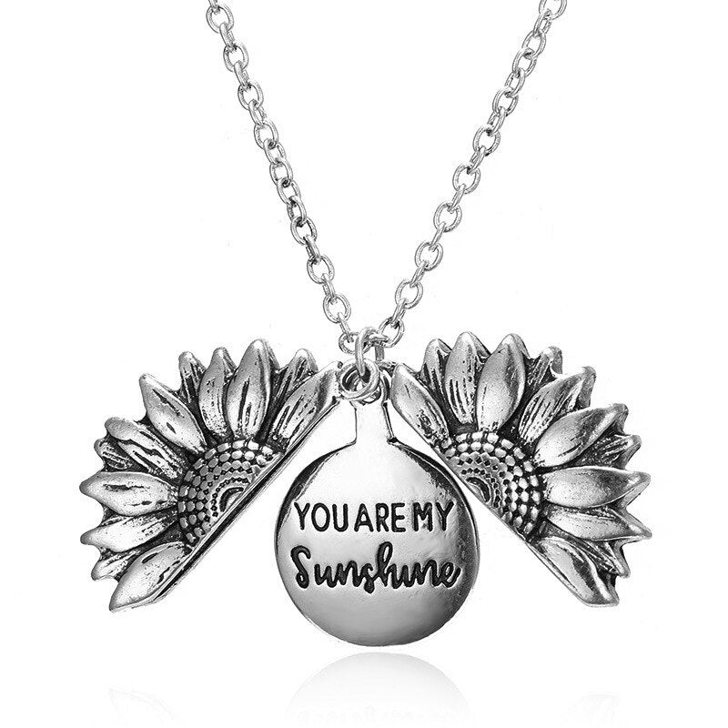 "Free Silver ""You Are My Sunshine"" Sunflower Necklace (Free-Bee Friday)"
