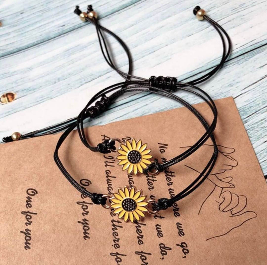 "Free ""Together Forever"" Sunflower Bracelet Set (Free-Bee Friday)"