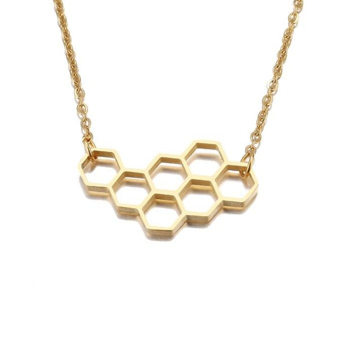 Horizonal Honeycomb Necklace