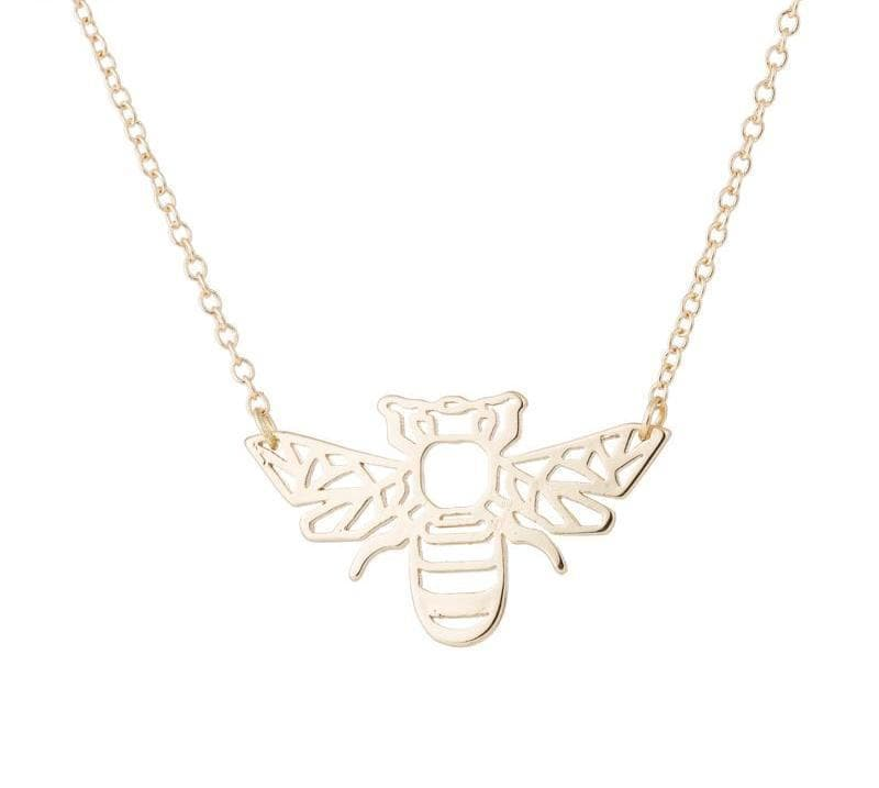 Geometric Origami Bee Necklace