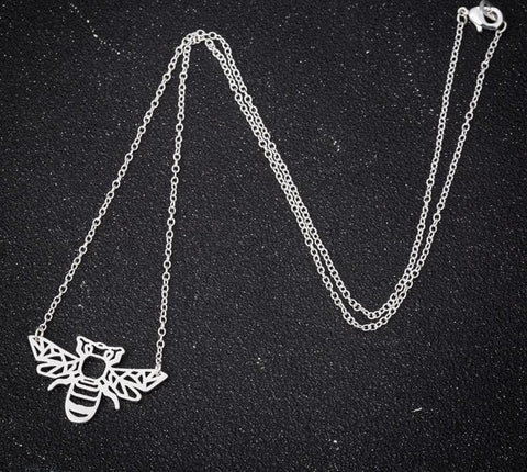 Image of Geometric Origami Bee Necklace