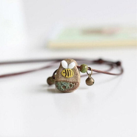 Limited Edition Ceramic Bee Necklace