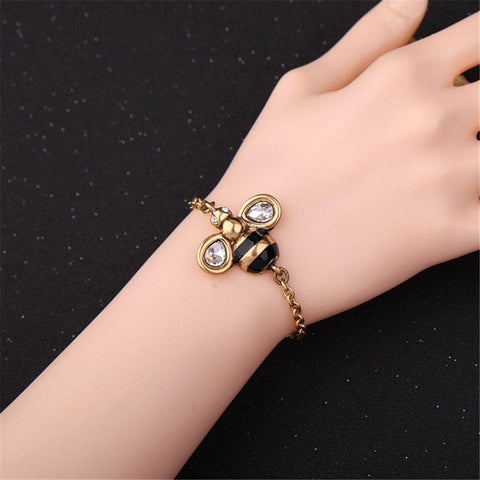 Image of Limited Edition Crystal Bee Bracelet