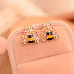 Limited Edition Crystal Bee Earrings