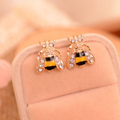 Image of Limited Edition Crystal Bee Earrings