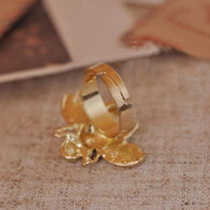 Limited Edition Crystal Honey Bee Ring