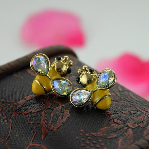 Image of Limited Edition Gemstone Bee Earrings