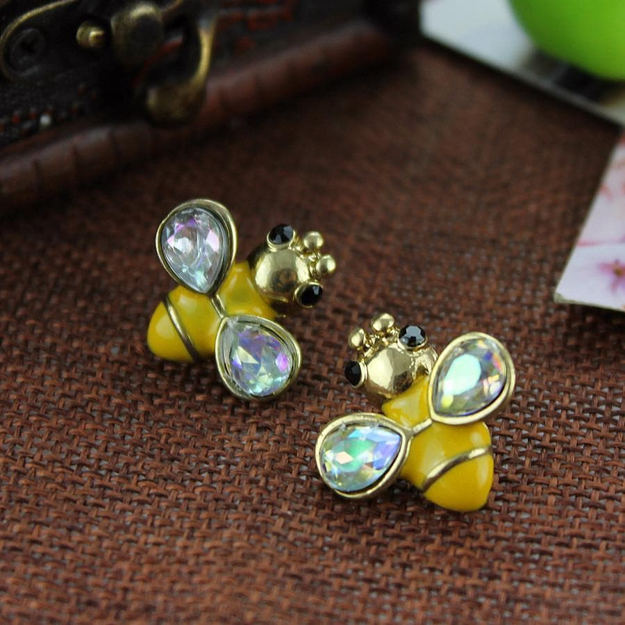 Limited Edition Gemstone Bee Earrings
