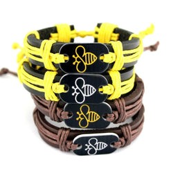 Limited Edition Handmade Leather Bee Bracelet