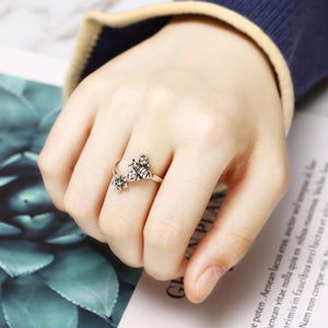Limited Edition Honey Bee and Flower Ring