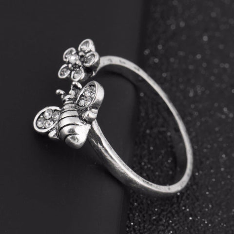 Image of Limited Edition Honey Bee And Flower Ring