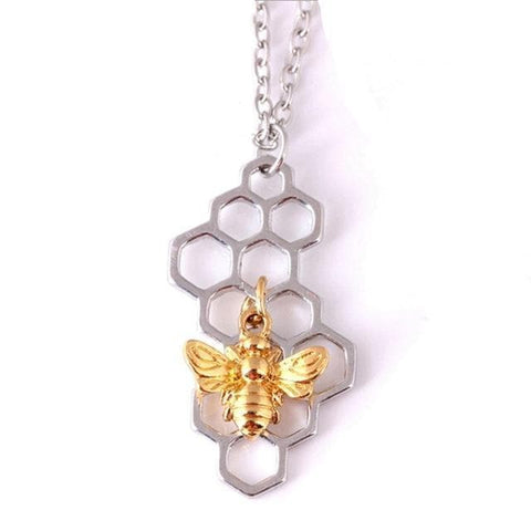 Image of Limited Edition Honeycomb Bee Necklace