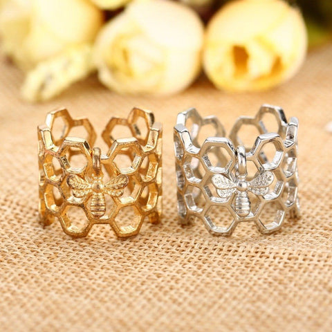 Image of Limited Edition Honeycomb Bee Ring
