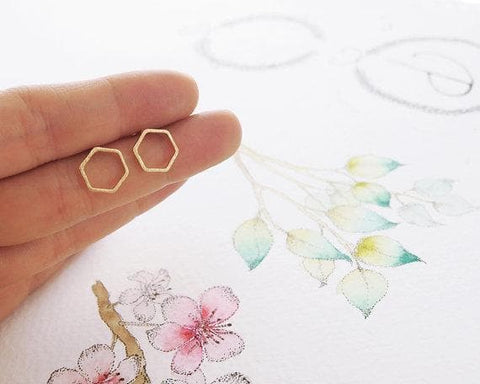 Image of Limited Edition Minimalistic Honeycomb Earrings