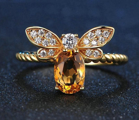 Image of Limited Edition Queen Bee Gemstone Ring [Resizeable]