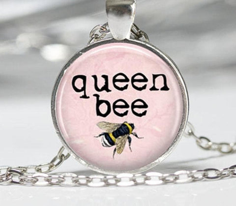 Limited Edition Queen Bee Glass Pendant Necklace