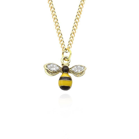 Limited Edition Rhinestone Bee Necklace