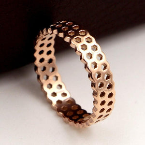 Limited Edition Rose Gold Honeycomb Ring